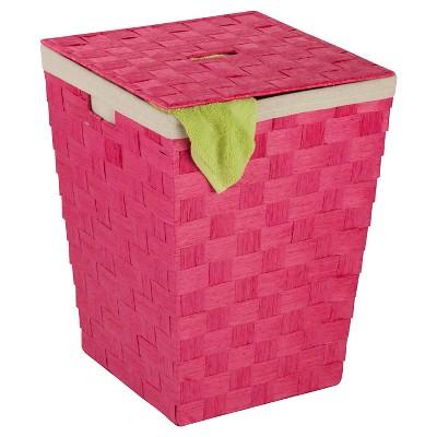 Honey-Can-Do Paper Rope Hamper - Pink
