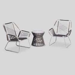 Carag 3pc Patio Chat Set Gray - Project 62™