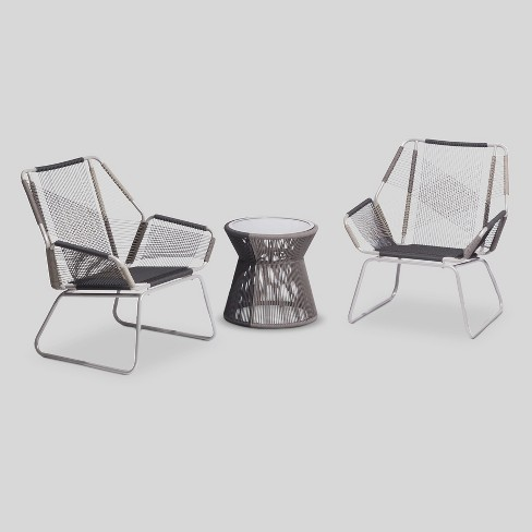 Carag 3pc Sling Rope Patio Chat Set - Project 62™ - image 1 of 4