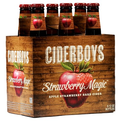 Ciderboys Strawberry Magic Hard Cider - 6pk/12 fl oz Bottles