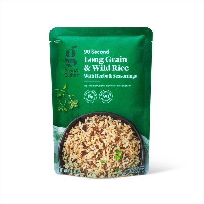 90 Second Long Grain & Wild Rice with Herbs & Seasonings Microwavable Pouch - 8.5oz - Good & Gather™