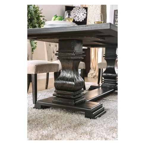 Iohomes Villa Rustic Dining Table Antique Black Homes Inside