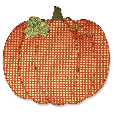 Pumpkin Sequin Orange Placemat (18 X13  , Set Of 2)- Pillow Perfect