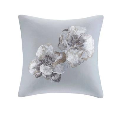 "18""x18"" Casa Nouveau Square Throw Pillow Gray - N Natori"
