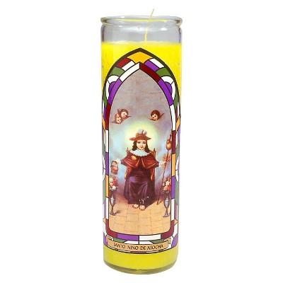 Jar Candle Santo Nino de Atocha Yellow - Continental Candle