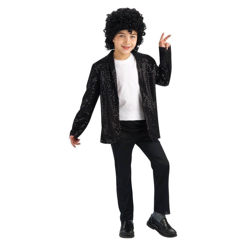 Boys' Michael Jackson Billie Jean Deluxe Jacket Costume S(4-6)
