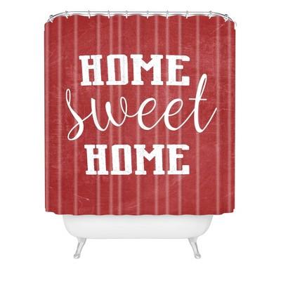 Monika Strigel Home Sweet Home Christmas Shower Curtain Red - Deny Designs