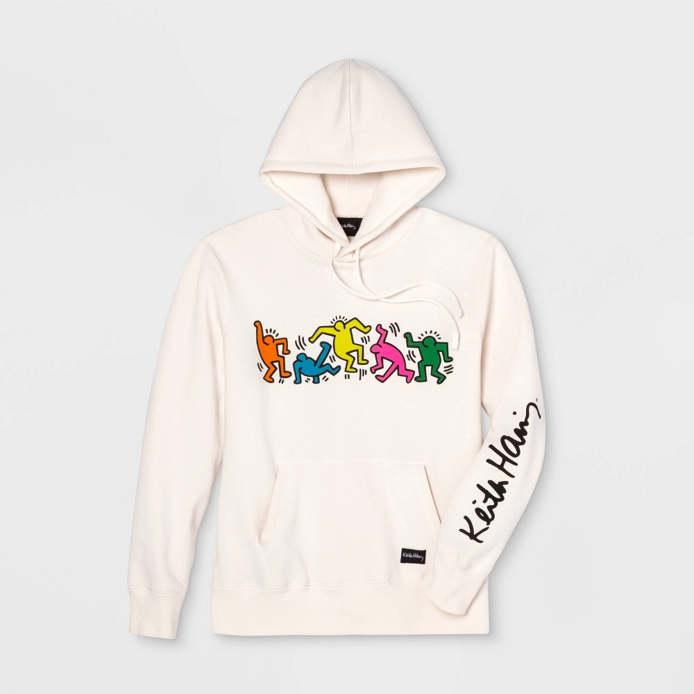 Image of Men's Keith Haring Band Long Sleeve Graphic Sweatshirt - Cream L, Men's, Size: Large, Beige