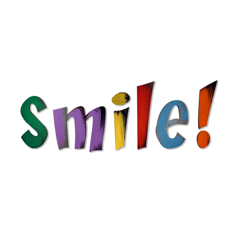 """Image of """"9"""""""" X 24"""""""" 'SMILE' Decorative Wall Art - L2W"""""""