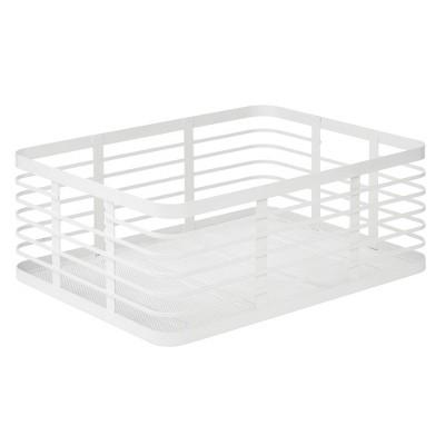 mDesign Metal Wire Food Organizer Storage Bin