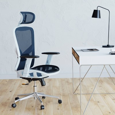 High Back Executive Mesh Office Chair Blue - Techni Mobili