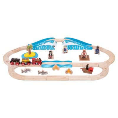 Bigjigs Rail Pirate Wooden Railway Train Set