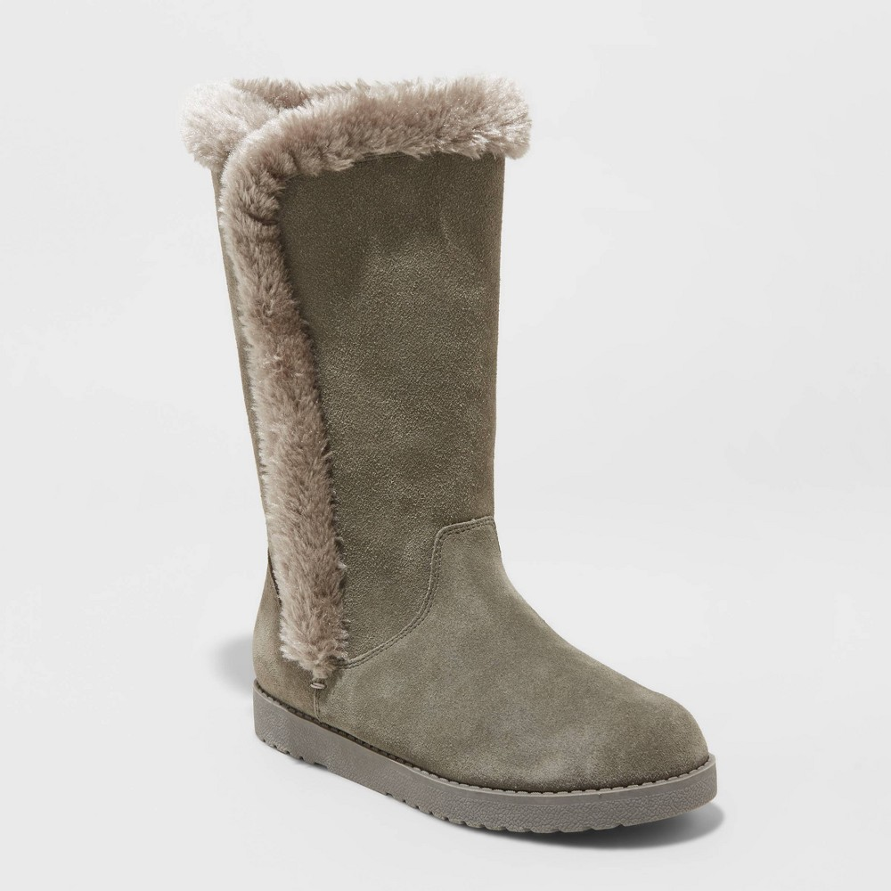 Image of Women's Daniela Suede Tall Boots - Universal Thread Gray 12