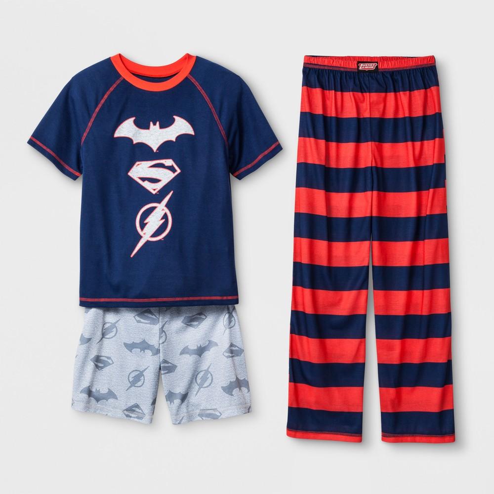 Boys' Justice League 3pc Pajama Set - Navy XS, Blue