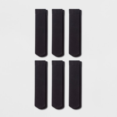 Women's 6pk Opaque Trouser Socks - A New Day™ Black 4-10