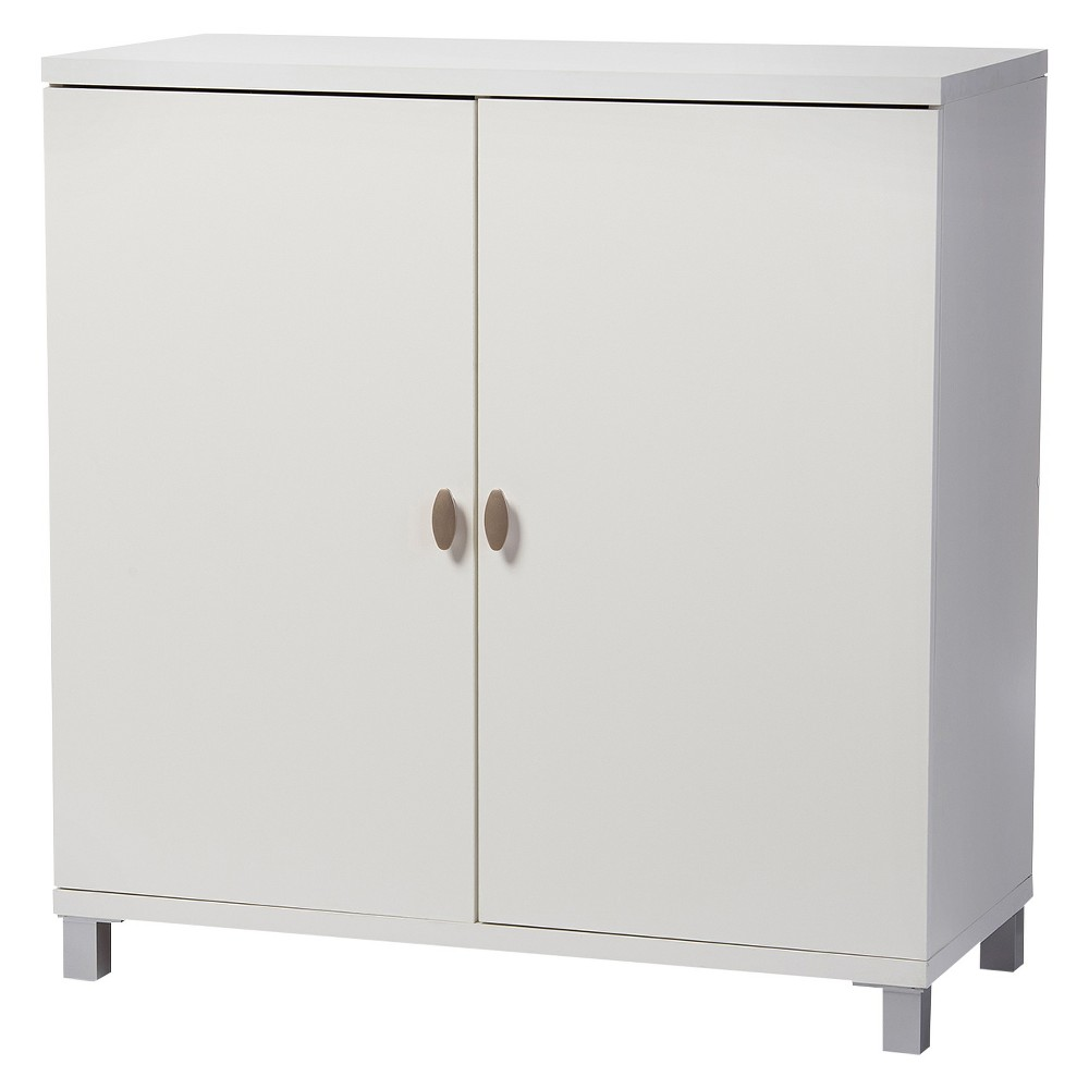 Marcy Modern and Contemporary Wood Entryway Storage Sideboard Cabinet - White - Baxton Studio