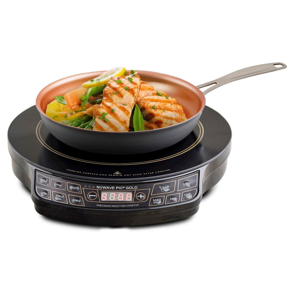 NuWave Pic Precision Induction Cooktop & Fry Pan - 30242, Black