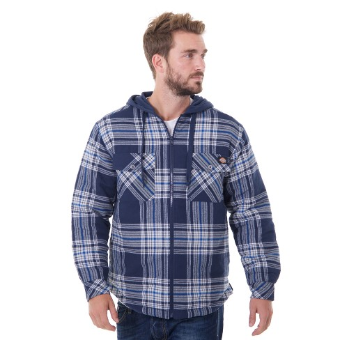 Dickies® Men's Big & Tall Flannel Hooded Shirt Jackets - image 1 of 3