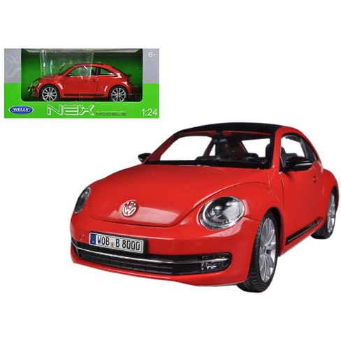 Volkswagen New Beetle With Sunroof Red 1 24 Cast Car Model By Welly Target