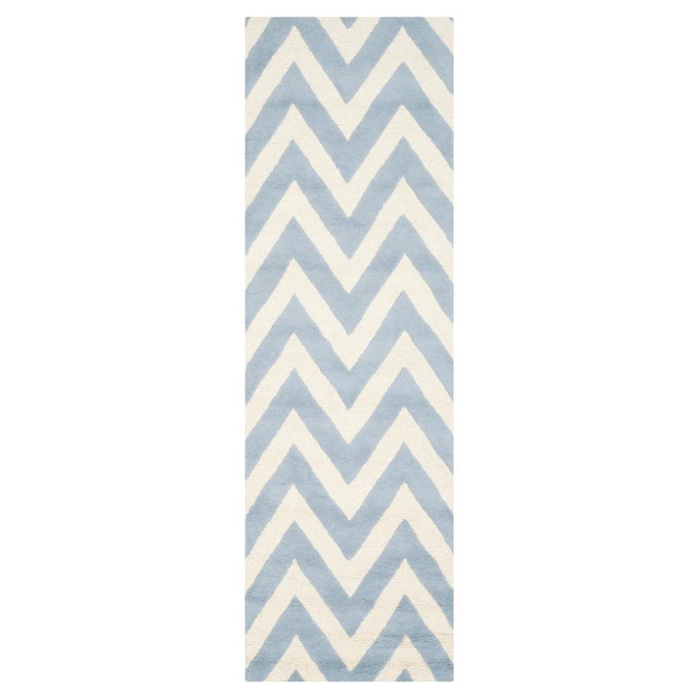 Dalton Textured Rug - Light Blue / Ivory (2'6 X 12') - Safavieh, Light Blue/Ivory