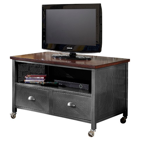 Urban Quarters 2 Drawer Media Chest - Black Steel - Hillsdale Furniture - image 1 of 2