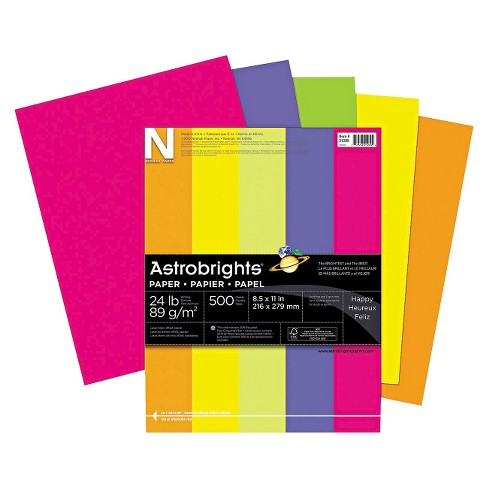 Neenah Paper 8-1/2 x 11 Astrobrights Colored Paper, 24lb- Assorted (500 Sheets per Ream) - image 1 of 1