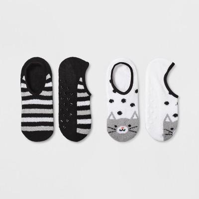 Women's 2pk Cat Cozy Pull On Socks - Xhilaration™ White One Size
