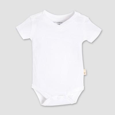 Burt's Bees Baby® Short Sleeve V-Neck Bodysuit - White 0-3M
