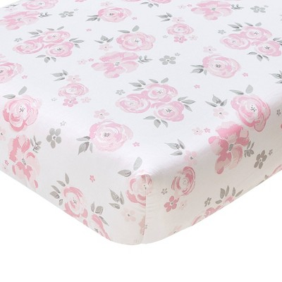 Wendy Bellissimo Floral Savannah Fitted Crib Sheet