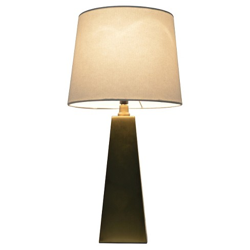 Metal Tapered Table Lamp Touch Control Gold Pillowfort Target