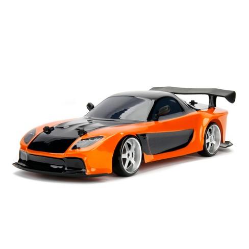 Jada Toys Fast & Furious Elite Drift RC 1993 Mazda RX-7 Remote Control Vehicle 1:10 Scale Orange - image 1 of 4