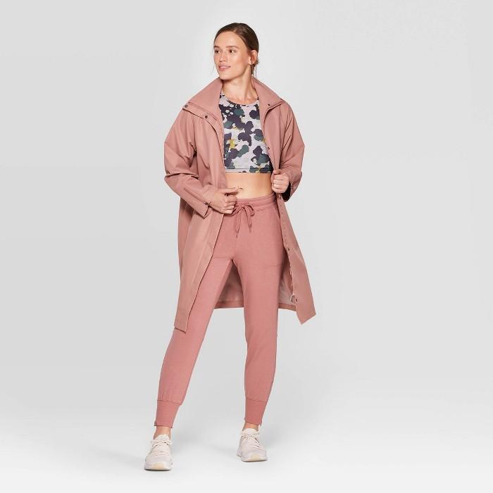 Women's Trench Jacket - JoyLab™ Rose - image 1 of 3