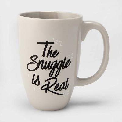 26oz Stoneware The Snuggle is Real Mug Beige - Threshold™
