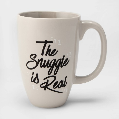 26oz Porcelain The Snuggle is Real Mug Beige - Threshold™ - image 1 of 1