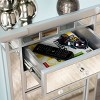 Lompton Mirrored 5 Drawer Accent Chest Silver - Aiden Lane - image 2 of 4