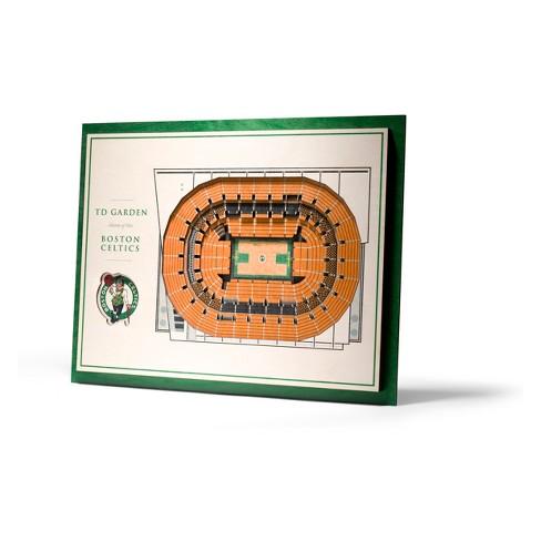 NBA Boston Celtics 5-Layer Stadiumviews 3D Wall Art - image 1 of 4
