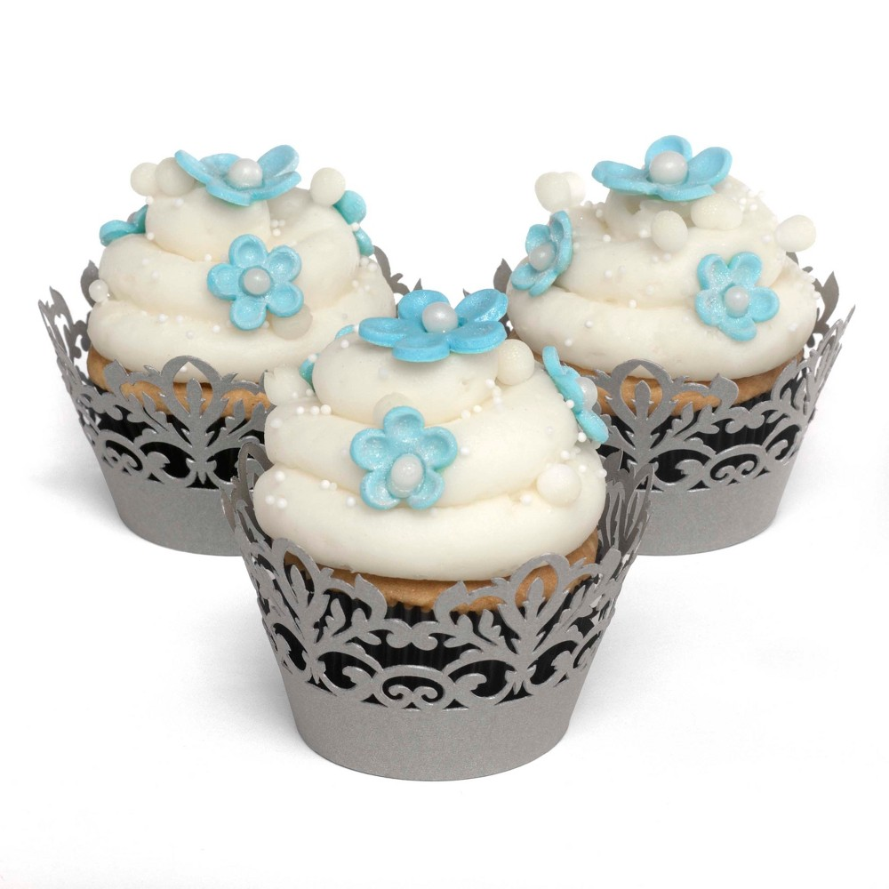 Image of Decorative Cupcake Wraps Gray - Hortense B. Hewitt