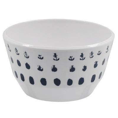 Melamine Polka Dot 31oz Bowl Washed Indigo - Room Essentials™