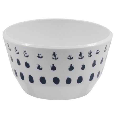 Melamine Polka Dot 31oz Bowl Washed Indigo - Room Essentials™ - image 1 of 1