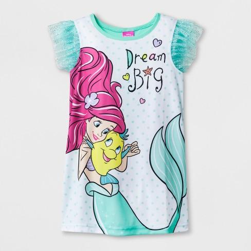f95baf13b8 Toddler Girls  Disney The Little Mermaid Nightgowns - Blue 4T   Target