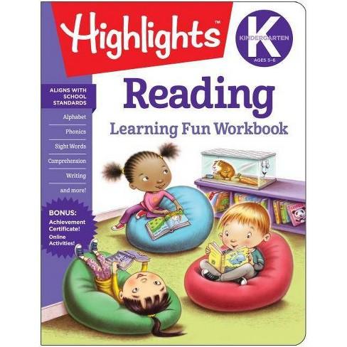 Kindergarten Reading - (Highlights Learning Fun Workbooks) (Paperback) - image 1 of 1