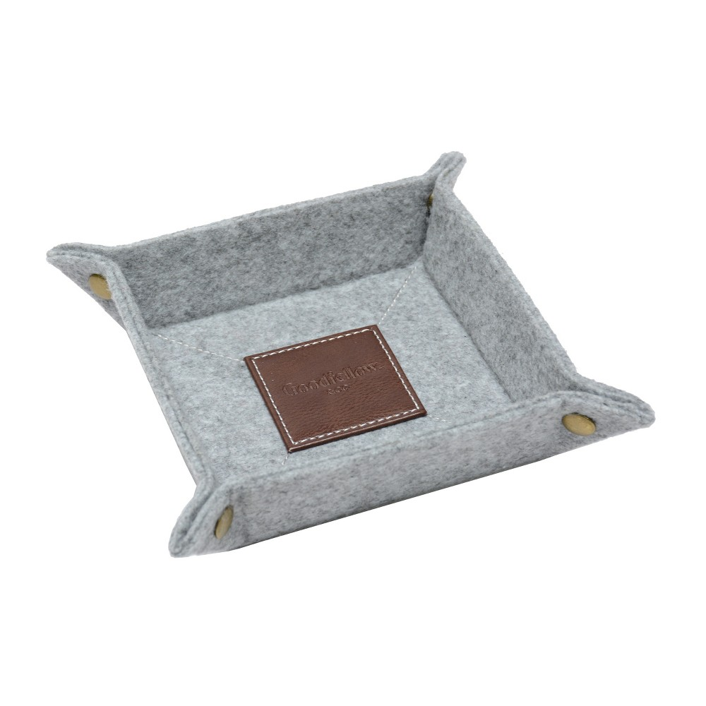 Image of Felt Travel Tray With Center Leather Square - Goodfellow & Co , Gray