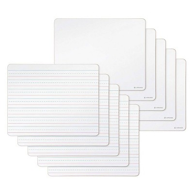 """U Brands 10pk 12""""x9"""" Double Sided Dry Erase Lap Boards"""