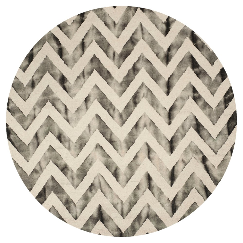 Carl Area Rug - Ivory/Charcoal (Ivory/Grey) (7' Round) - Safavieh