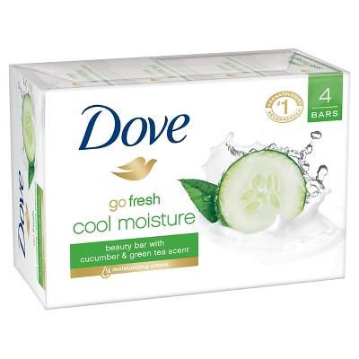 Dove go fresh Cool Moisture Beauty Bar 4 oz, 4 Bar