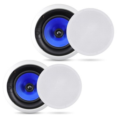 Pyle Audio 6.5 Inch 2 Way 250W Flush Mount Hi Fi High Performance Home Theater Garage In Wall Ceiling Speaker Sound System, Pair of 2