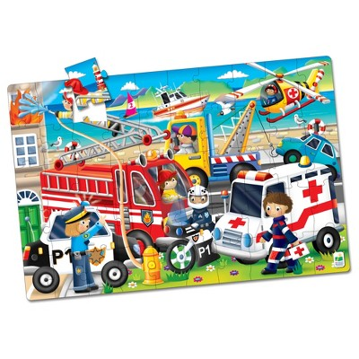 The Learning Journey Jumbo Floor Puzzles Emergency Rescue 50 pieces