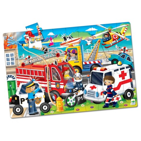 The Learning Journey Jumbo Floor Puzzles Emergency Rescue 50 pieces - image 1 of 4