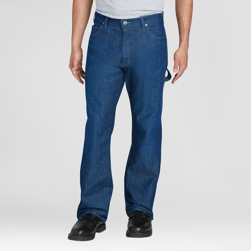 Dickies Men's Relaxed Straight Fit Jeans - Blue 38x30