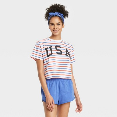 Women's 3pc Mighty Fine Americana Pajama Set